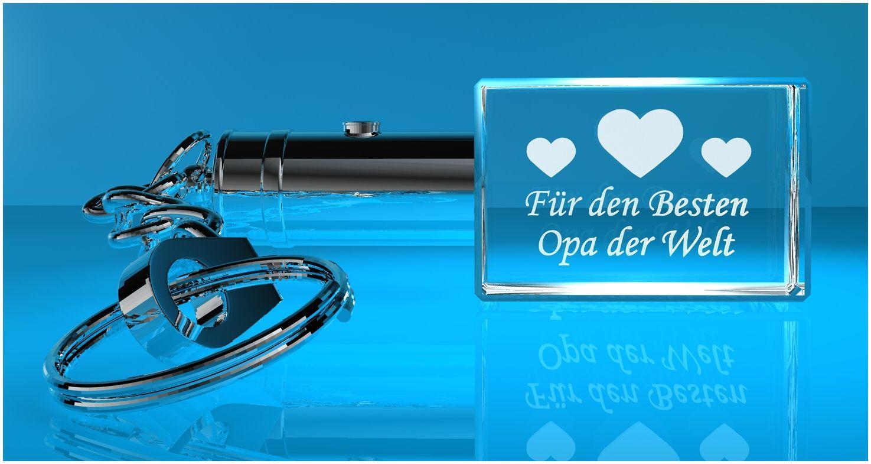 3D Schlüsselanhänger   Für den besten Opa der Welt   M0012