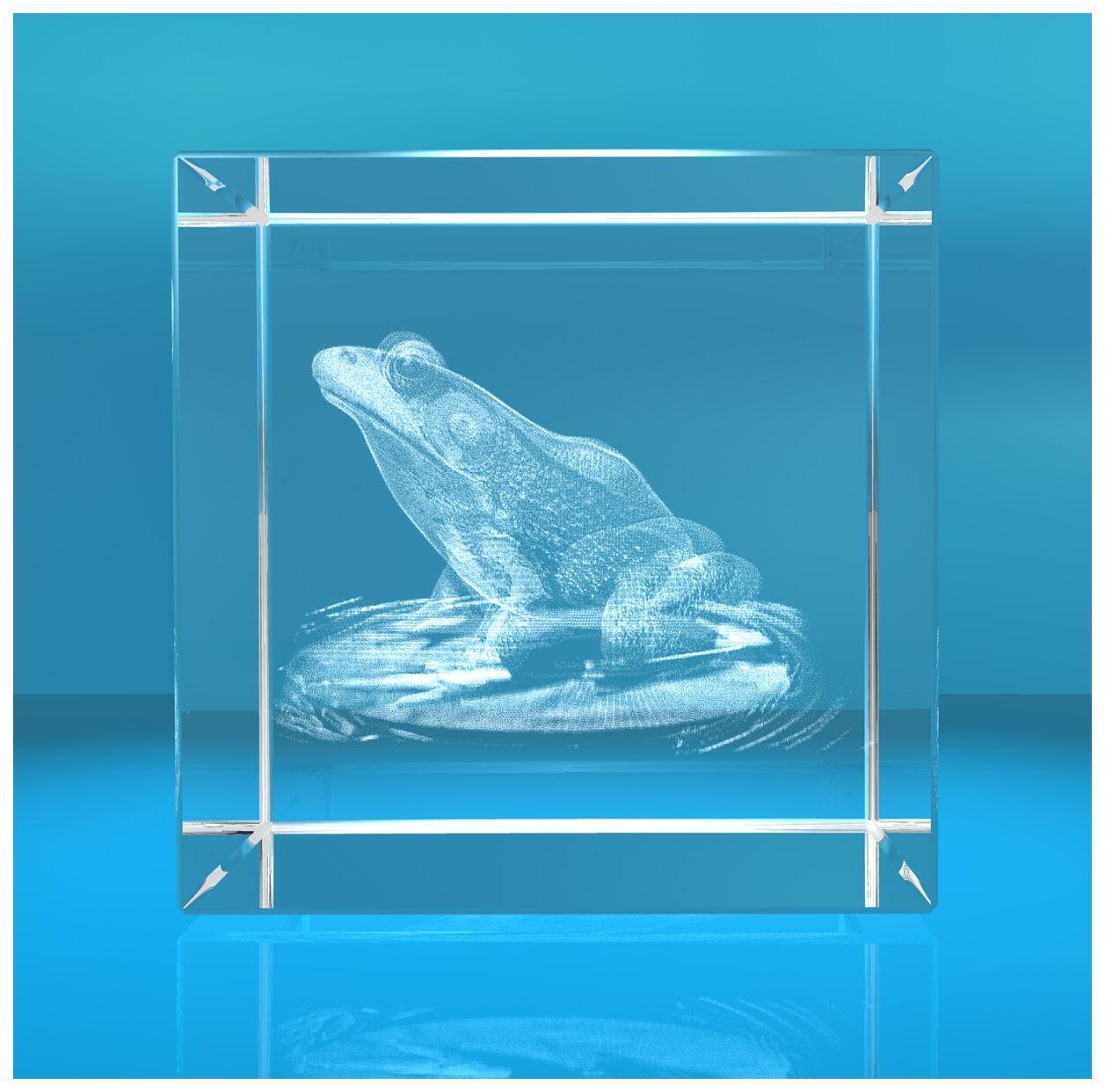 3D Glaswürfel I Frosch