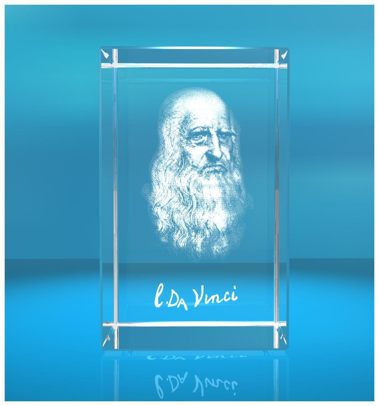 3D Glasquader I 3D Autogramm I Leonardo Da Vinci