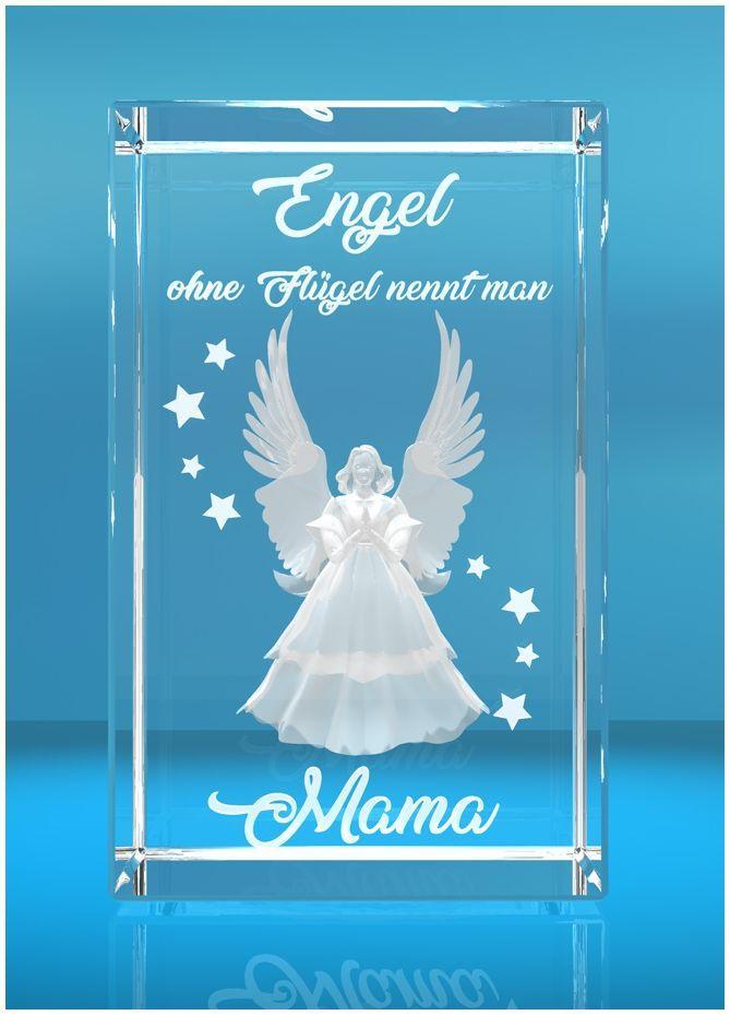 3D Glasquader I Engel ohne Flügel nennt man Mama