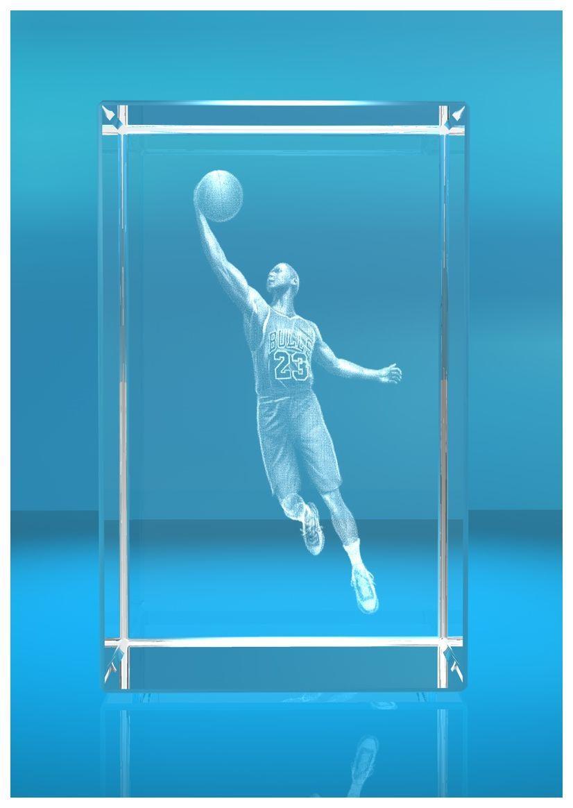 3D Glasquader   Motiv: Basketballer