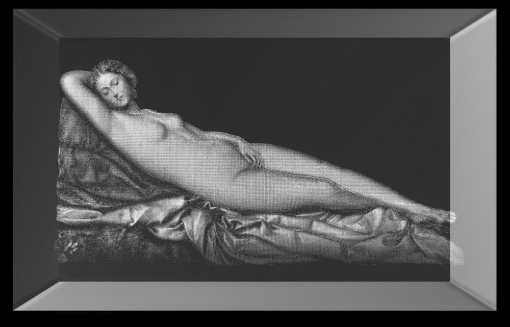 3D Glasquader   Schlummernde Venus von Giorgione