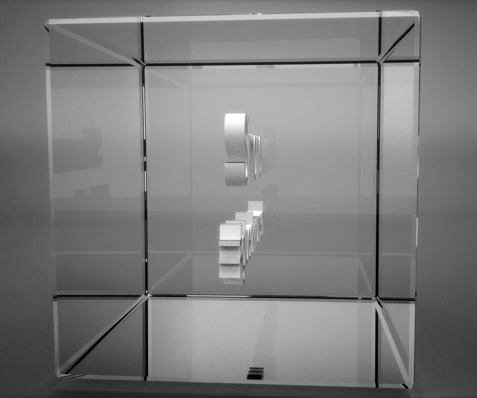 3D Glasquader   verziertes Herz   Du sollst auf mein Herz aufpassen...