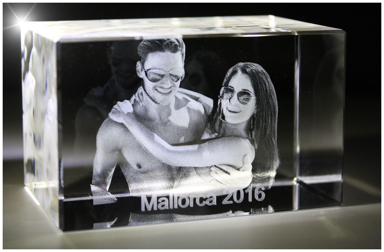VIP-LASER I 3D I Glasfoto Kristall Quader I Gravur Deines Urlaubsfoto in 3D!