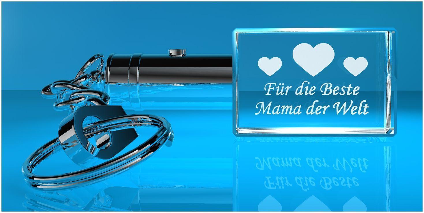 3D Schlüsselanhänger   Beste Mama der Welt   M0010