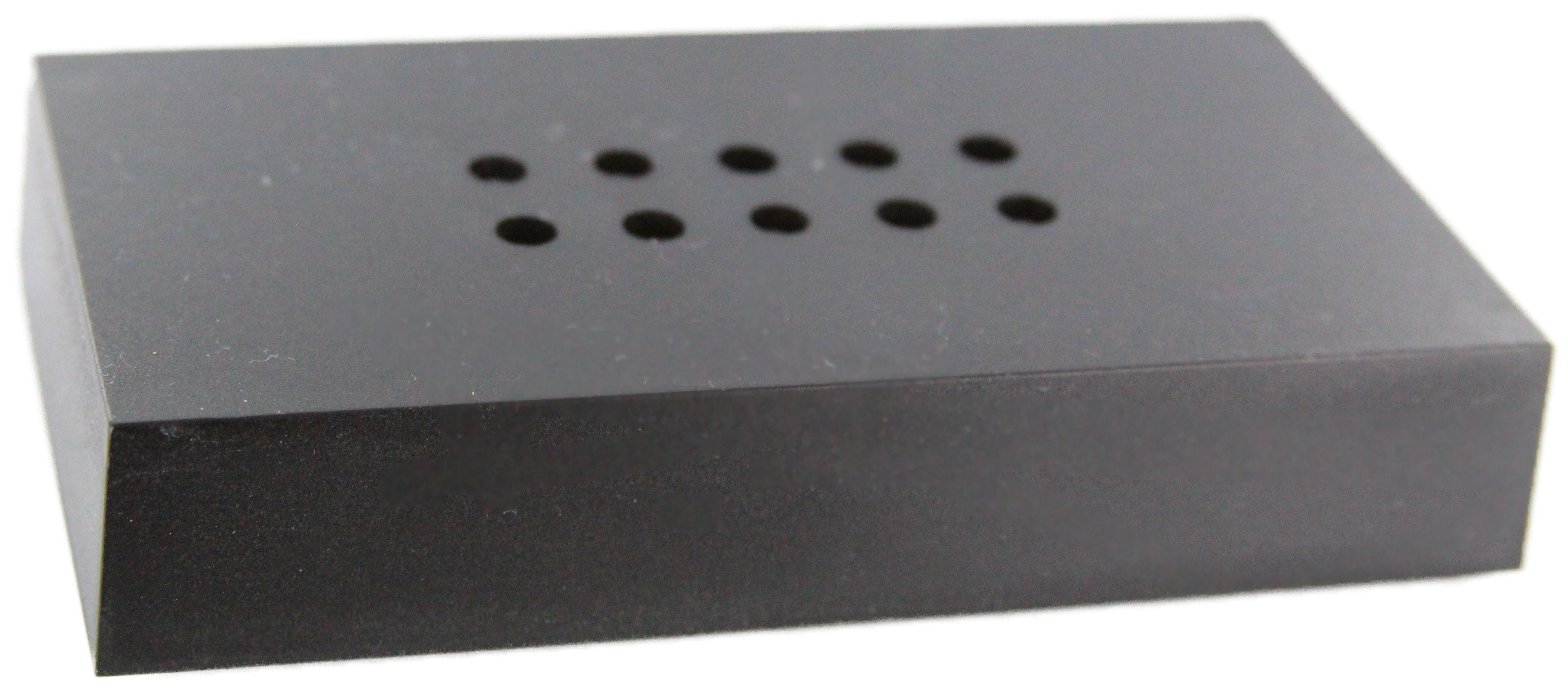 LED LEUCHTSOCKEL   10 weiße LED   100x60x20mm   Farbe Schwarz