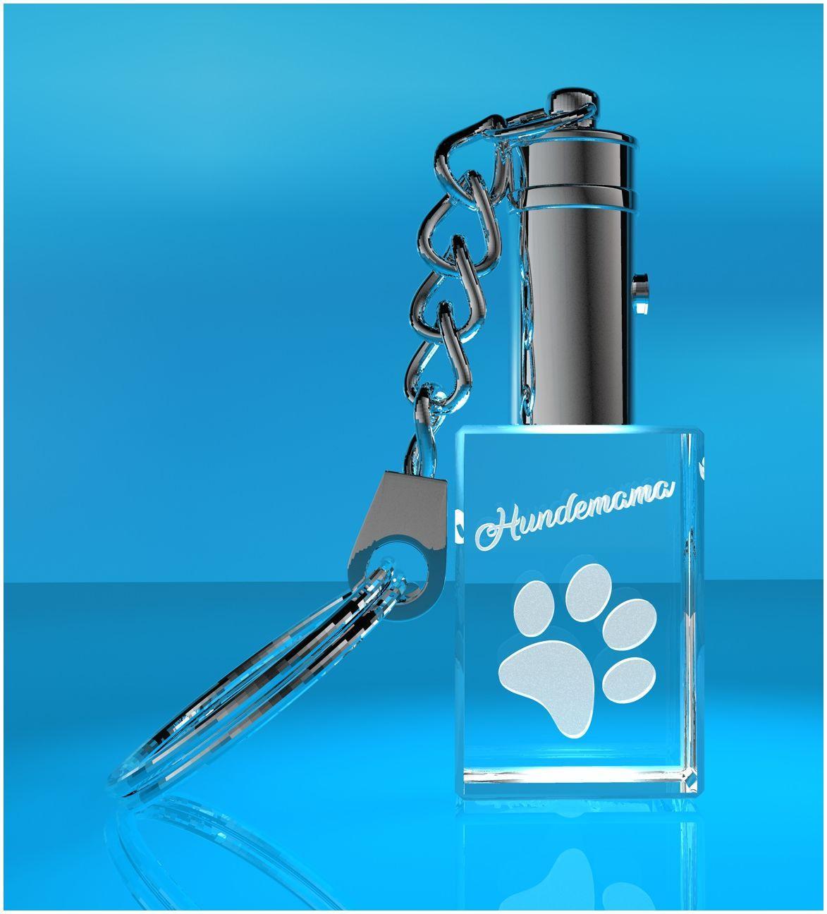 3D Schlüsselanhänger I Hundepfote + Wunschtext