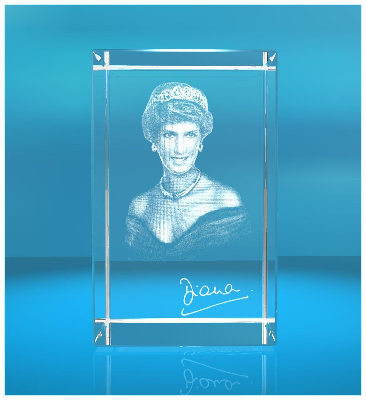 3D Glasquader I 3D Autogramm I Lady Diana I Princess of Wales