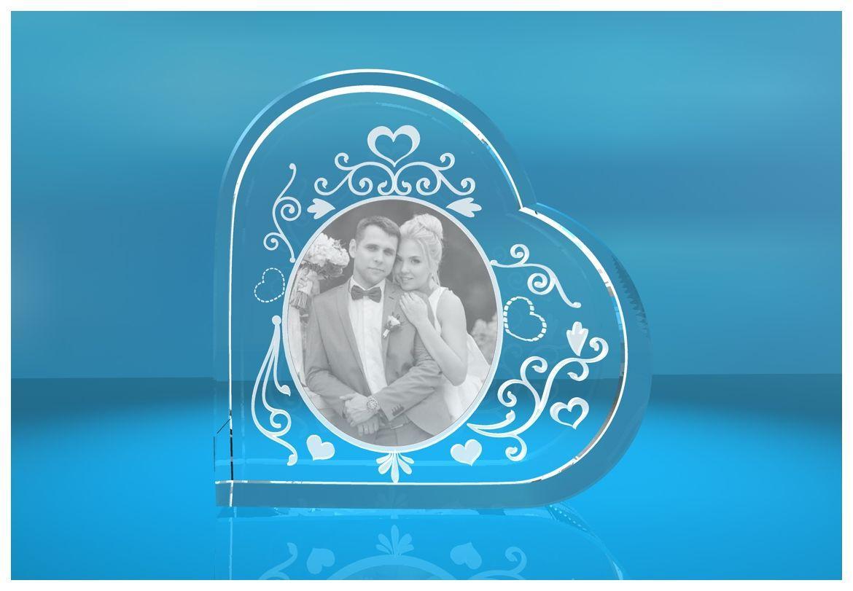 Glasherz XL verzierter Bilderrahmen mit Herz Tribal   Fotoframe mit Wunschfoto   Geschenk für Freundin   Freund   zum Valentinstag   Jahrestag   Love Goals   zu Weihnachten   zum Geburtstag   Muttertag   beste Mama