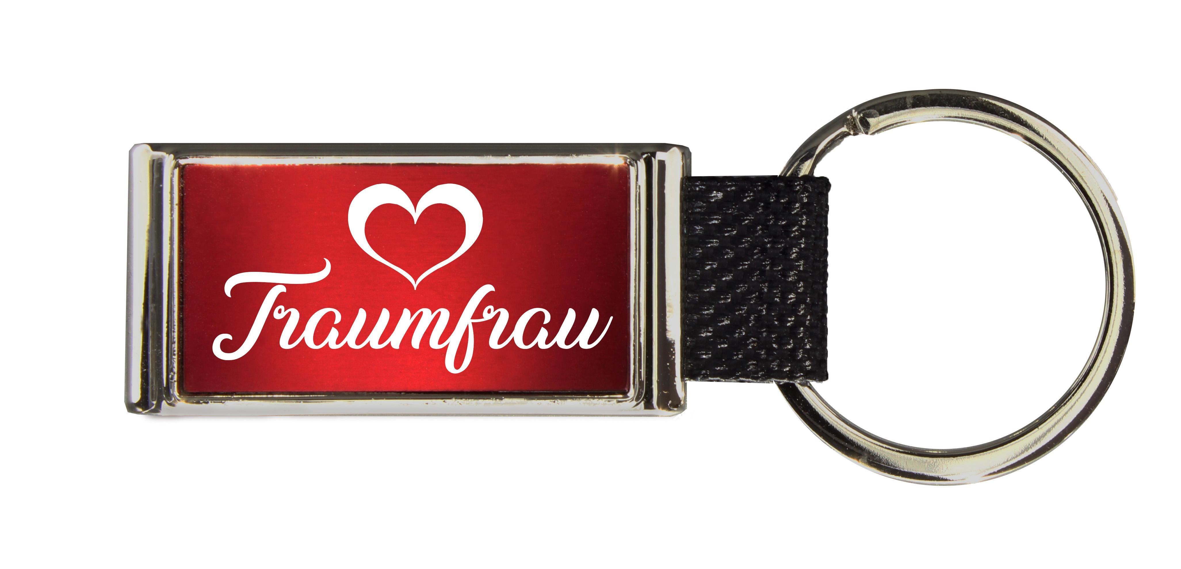 Schlüsselanhänger GLORIA   Liebesmotiv mit 2 Namen graviert   Motiv M023