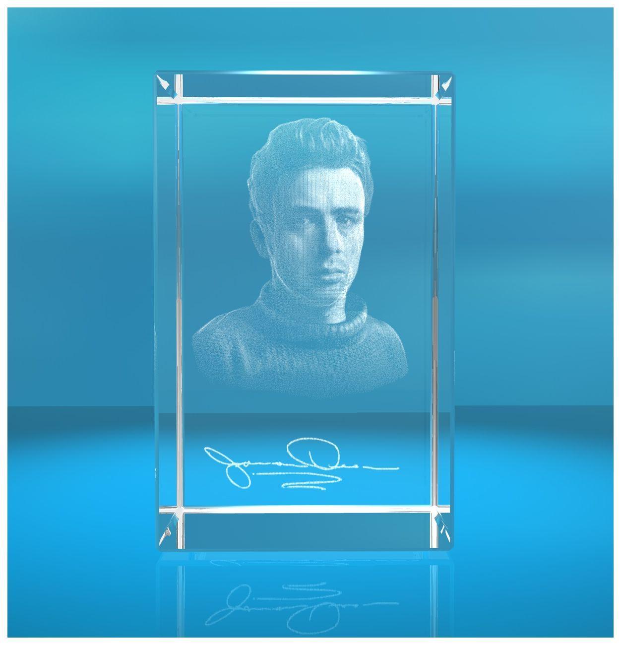3D Glasquader  I 3D Autogramm I James Dean