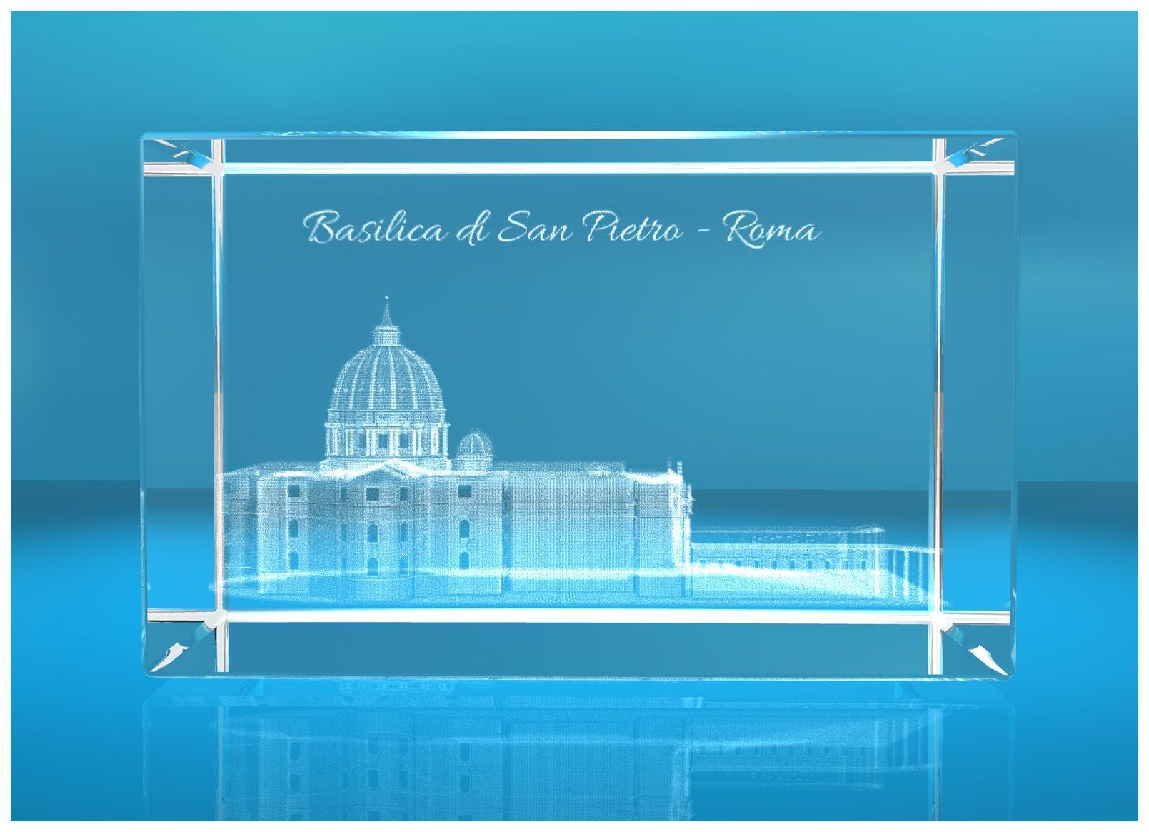 3D Glasquader   Motiv: Basilica di San Pietro Roma / Petersdom Rom