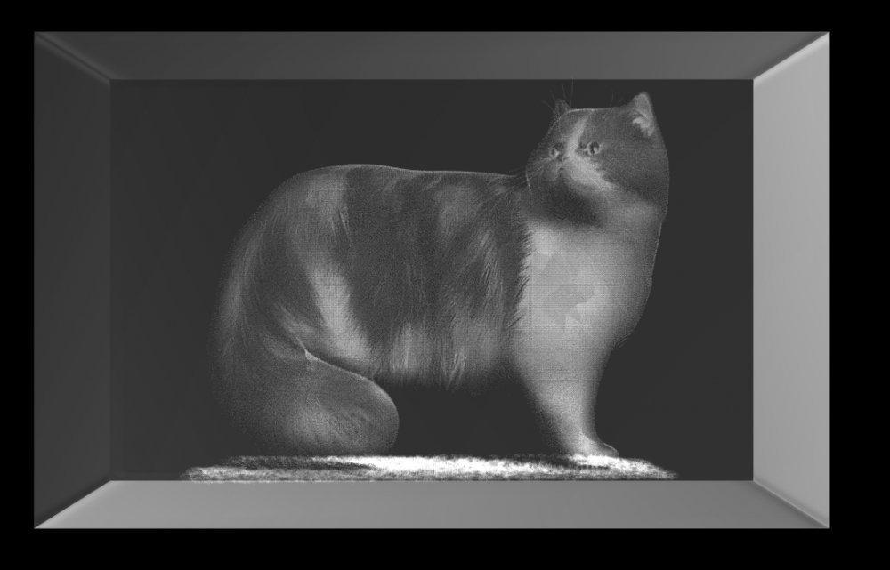 3D Glasquader   Katze