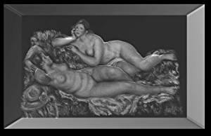 3D Glasquader   Bathers   Renoir