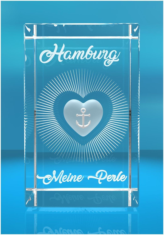 3D Glasquader I Hamburg I Herz I Hamburg meine Perle