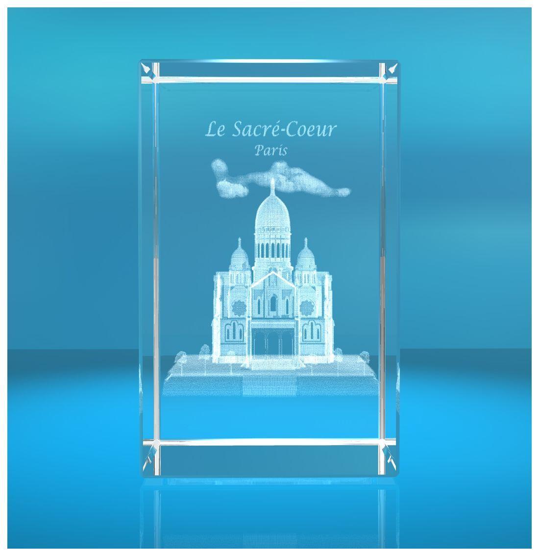 3D Glasquader I Basilika Sacré-Coeur de Montmartre in Paris